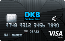 Kostenlose DKB Visa-Card
