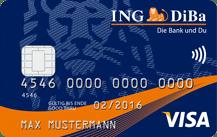 Kostenlose ING DiBa Visa-Card